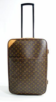 82f28af347f Louis Vuitton 55 Rolling Luggage Travel Suitcase Monogram Canvas Travel Bag   1