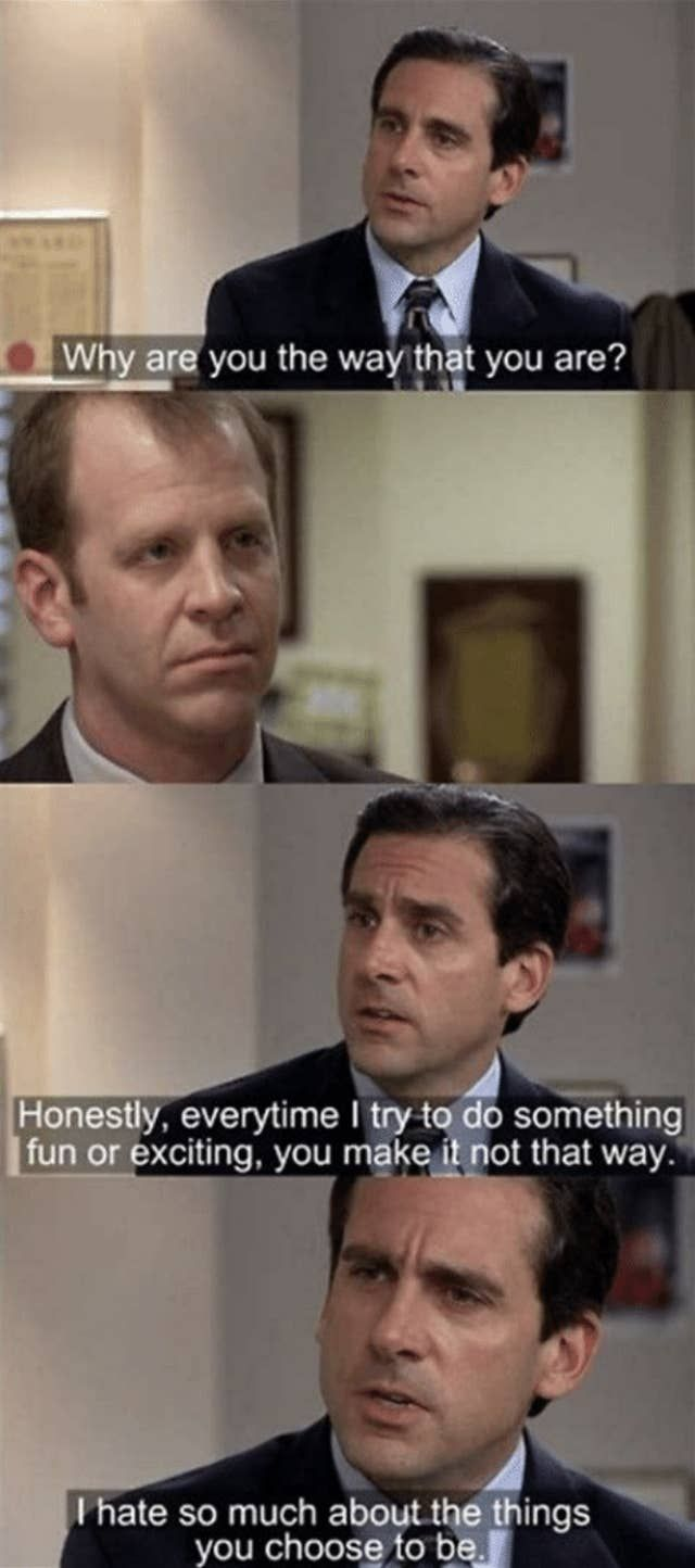 """Photo of 25 Michael And Toby Moments On """"The Office"""" That Are Painful To Watch"""