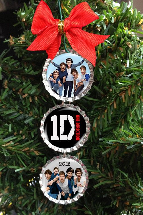 One Direction Bottle Cap Christmas Tree Ornament - Happy Holidays - Harry  Niall Zayn Liam Louis. $6.00, via Etsy. - One Direction Bottle Cap Christmas Tree Ornament - Happy Holidays