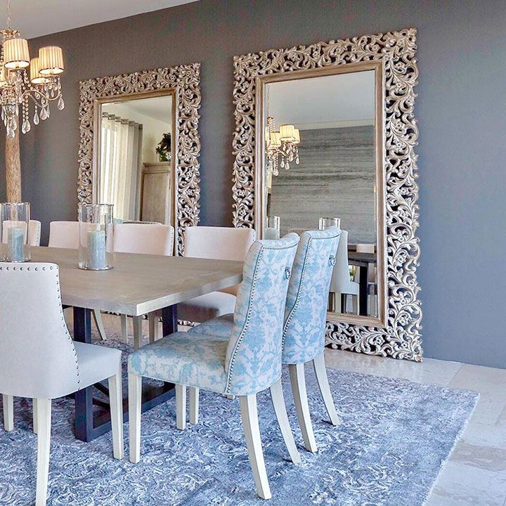 espejos grandes  House en 2019  Espejos comedor