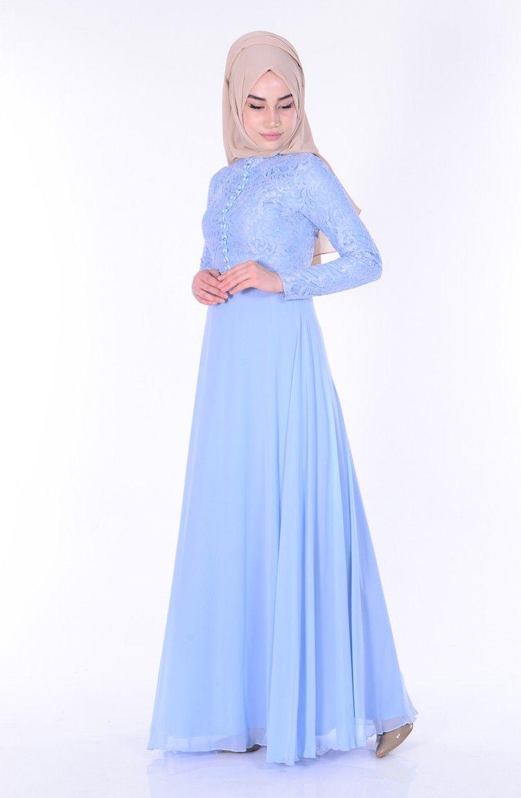 Sefamerve Dantelli Tesettur Sifon Elbise Modelleri Moda Tesettur Giyim Unlulerin Giydikleri Moda Stilleri The Dress