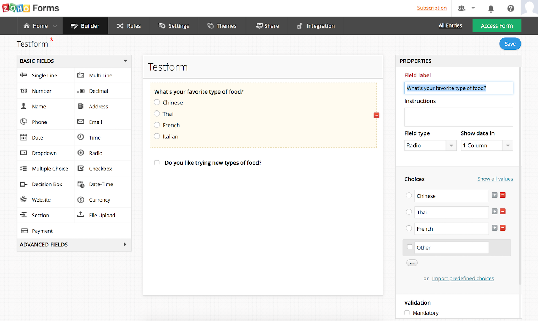 Zoho Forms Form Builders Pinterest Form Builder Online Form - Free online invoice program best online vape store