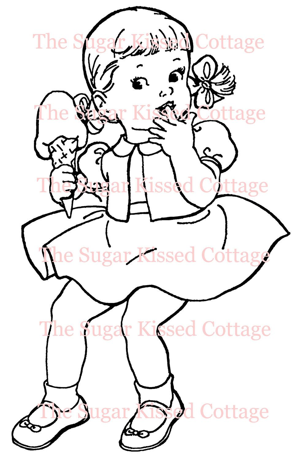 vintage coloring pages etsy - photo#48