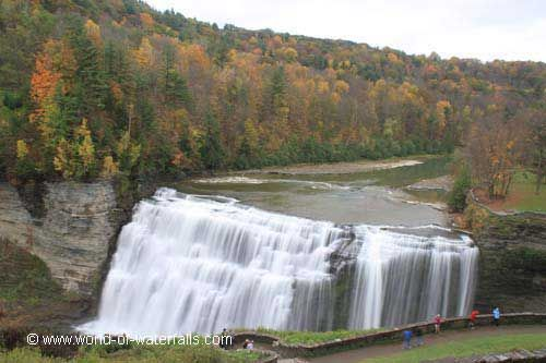 middle falls of the genessee river in letchworth state park travel rh pinterest ca