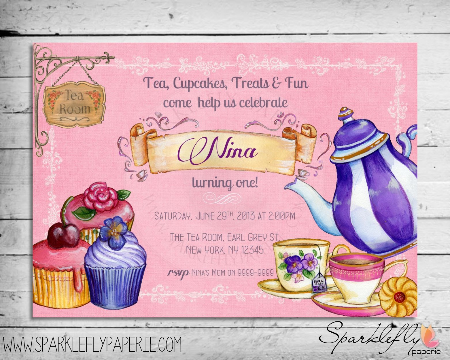 Fancy Tea Party Invitation Etiquette and tea party invitation – Kids Tea Party Invitations