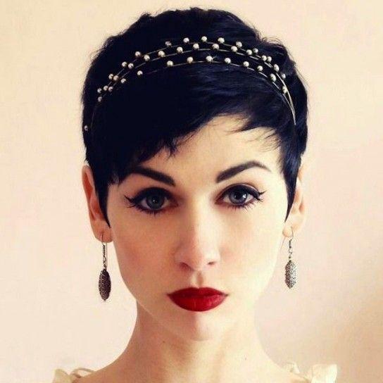 Cabell Curt Amb Diadema Hair4dummies Pinterest Pelo Corto - Pelo-corto-con-diadema