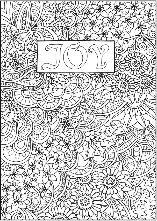 From Creative Haven Entangled Christmas Coloring Book About This Book Coloring Page 1 Quote Coloring Pages Coloring Books Pattern Coloring Pages