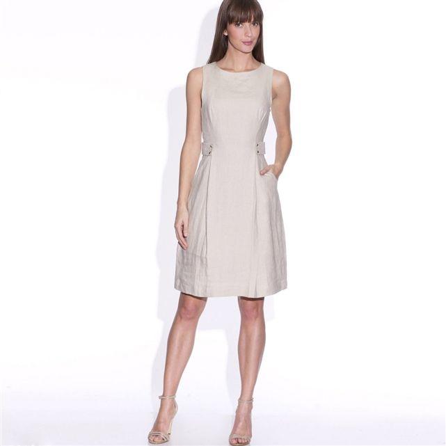 Linen Shift Dress | LAURA CLEMENT | La Redoute