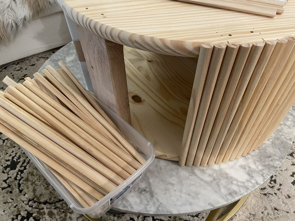 DIY FLUTED COFFEE TABLE