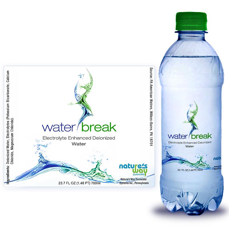 Water Bottle Label Design, Electrolyte Drink Label Design