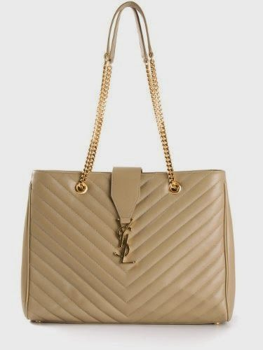 YSL Saint Laurent Classic Monogram Shopping Bag in Beige Matelasse Leather  342022 9941 89b013f45d41a