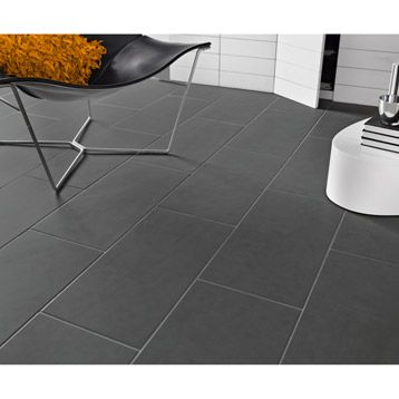 Carrelage int rieur oslo en gr s c rame maill anthracite for Carrelage interieur gris anthracite