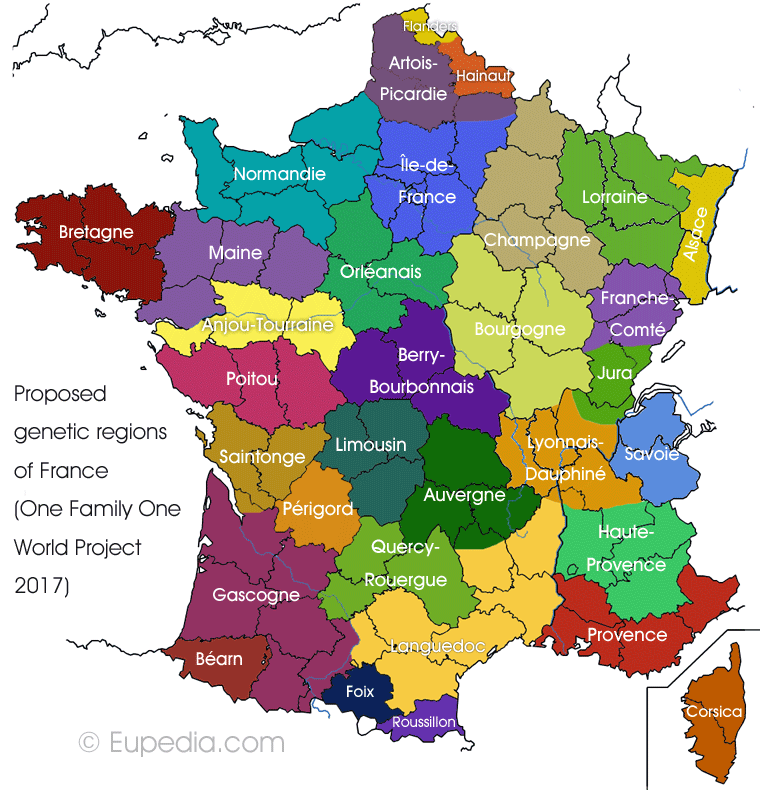 Map Of France Regional Participate to the France Regional DNA Project to help us map the