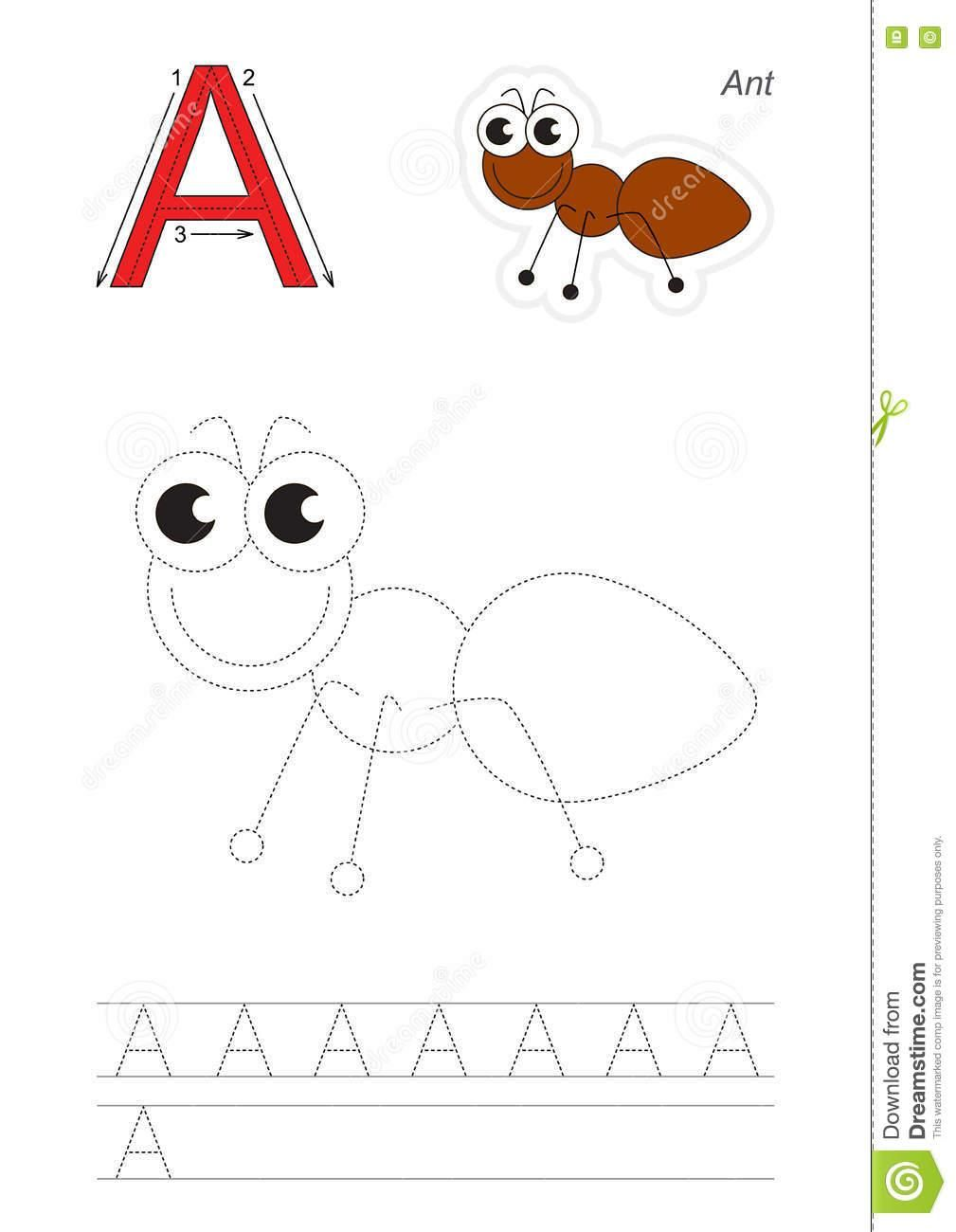 Tracing Of Letter A в 2020 г