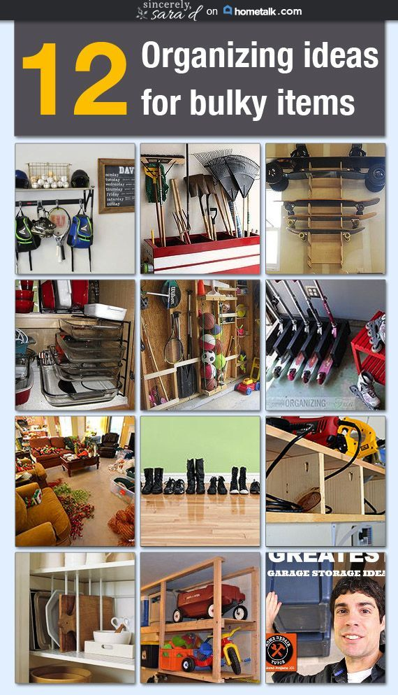 Great ideas for organizing all kinds of