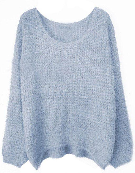 Grey Round Neck Long Sleeve Villus Pullovers Sweater