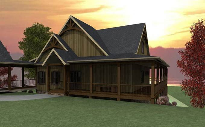 3 Bedroom Open Floor Plan With Wraparound Porch And Basement Wraparound Porch House Plans Craftsman House Plans Guest House Plans
