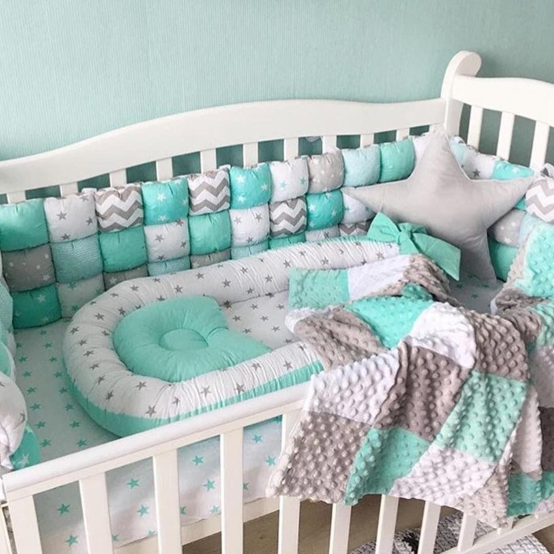 duvet pillowcase set Beautiful pink grey bunny nursery cot bed bumper wraps 12