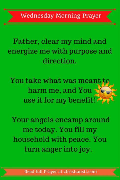 Wednesday Morning Prayer Blessings to Start Your Day