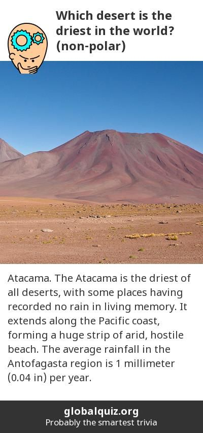 Which Desert Is The Driest In The World Nonpolar Atacama The - All deserts