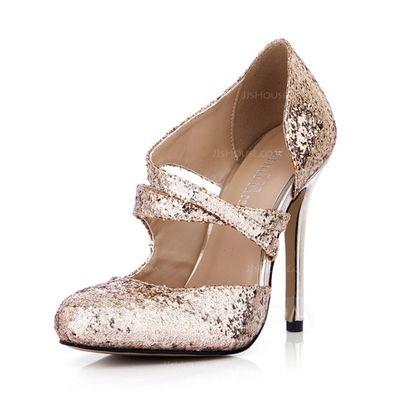 22e46d53a3d  £ 52.00  Women s Sparkling Glitter Stiletto Heel Closed Toe Pumps -  JJsHouse