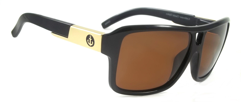 Theron Retro Polarized Sunglasses Large Frame Mirror Lens