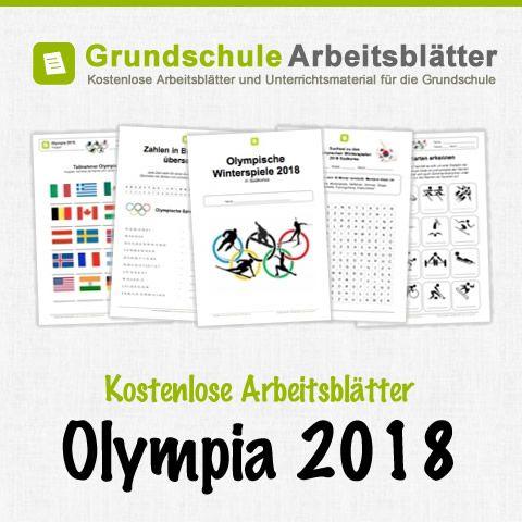 Kostenlose Arbeitsblätter Olympische Winterspiele 2018 in Südkorea ...