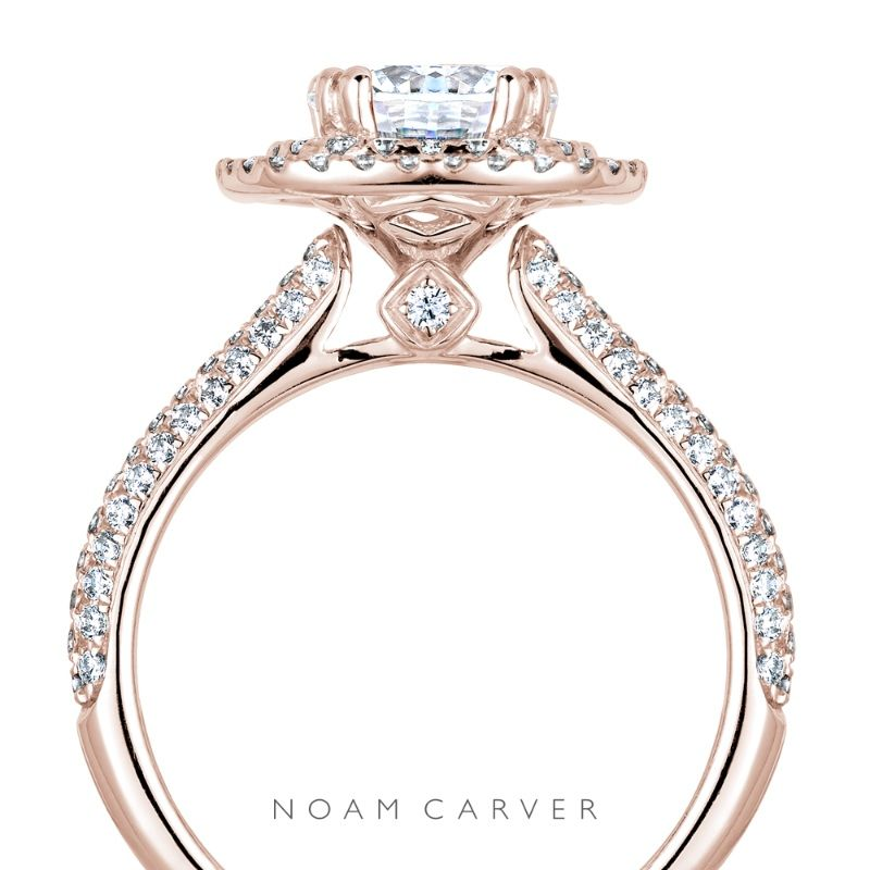 No beauty shines brighter! A sophisticated double halo rose gold engagement ring by Noam Carver See more here: http://noamcarver.com/details.asp?SKU=B146-08WM-100A