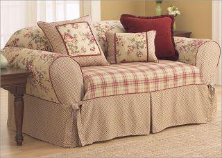 Copridivano Shabby Chic : Scrap and so on: un divano comodoso مفارش slipcovers sofa