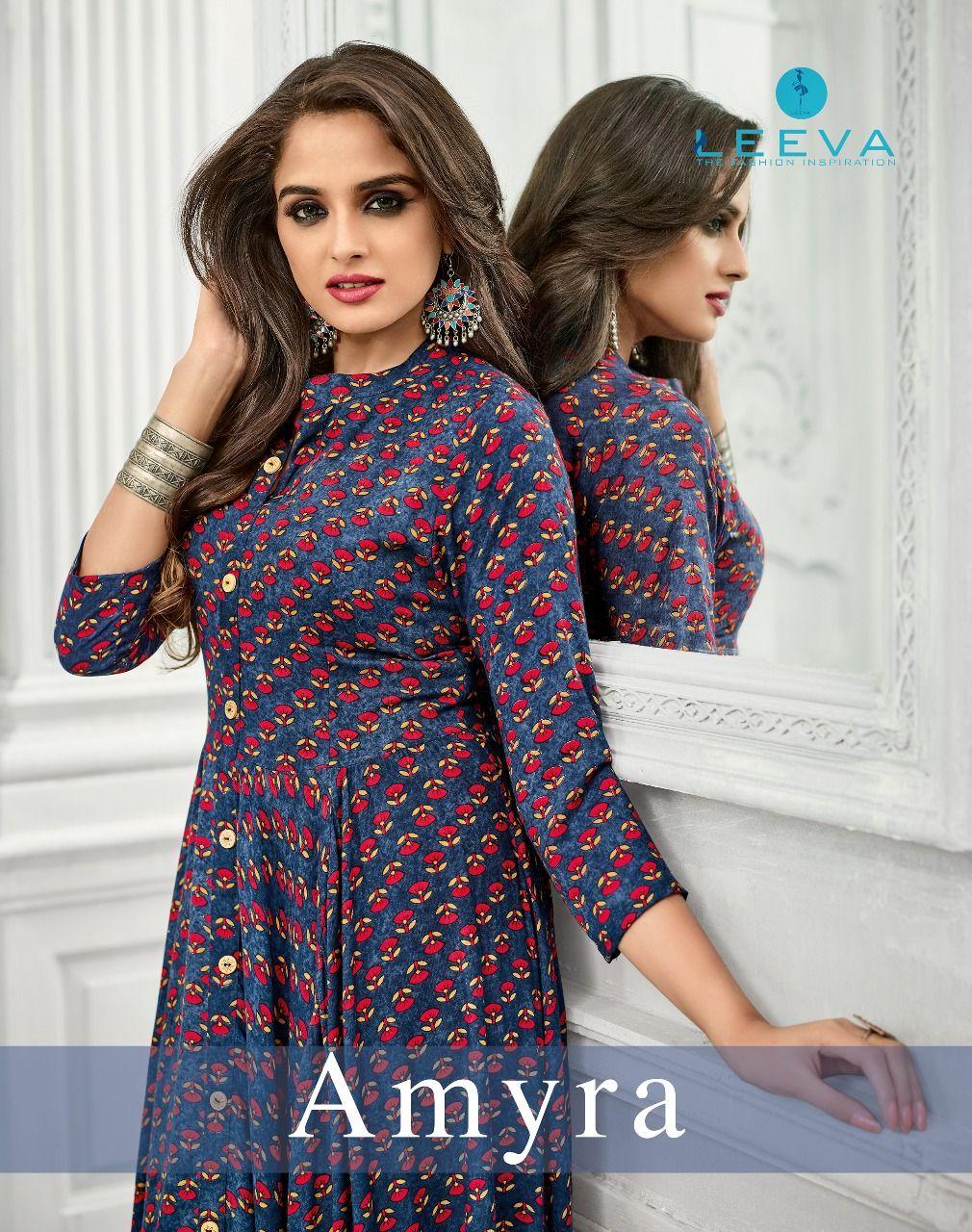 Leeva Amyra Heavy Rayon print Gown Wholesale(6 Pc Set)  7e88c91f7