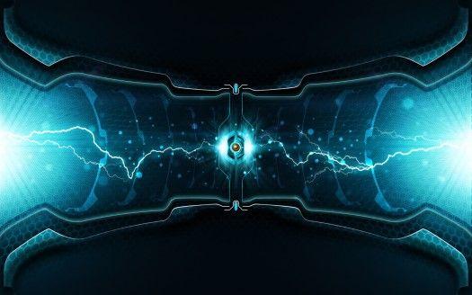 Lightning Cell Fond d'écran abstrait, Fond d'écran pc