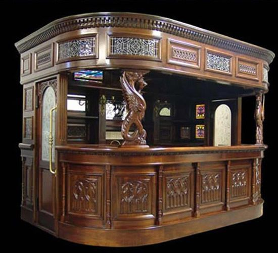 Big Canopy Home Pub Bar Antique furniture Man Cave Tavern Counter w Sink Marble & Big Canopy Home Pub Bar Antique furniture Man Cave Tavern Counter ...