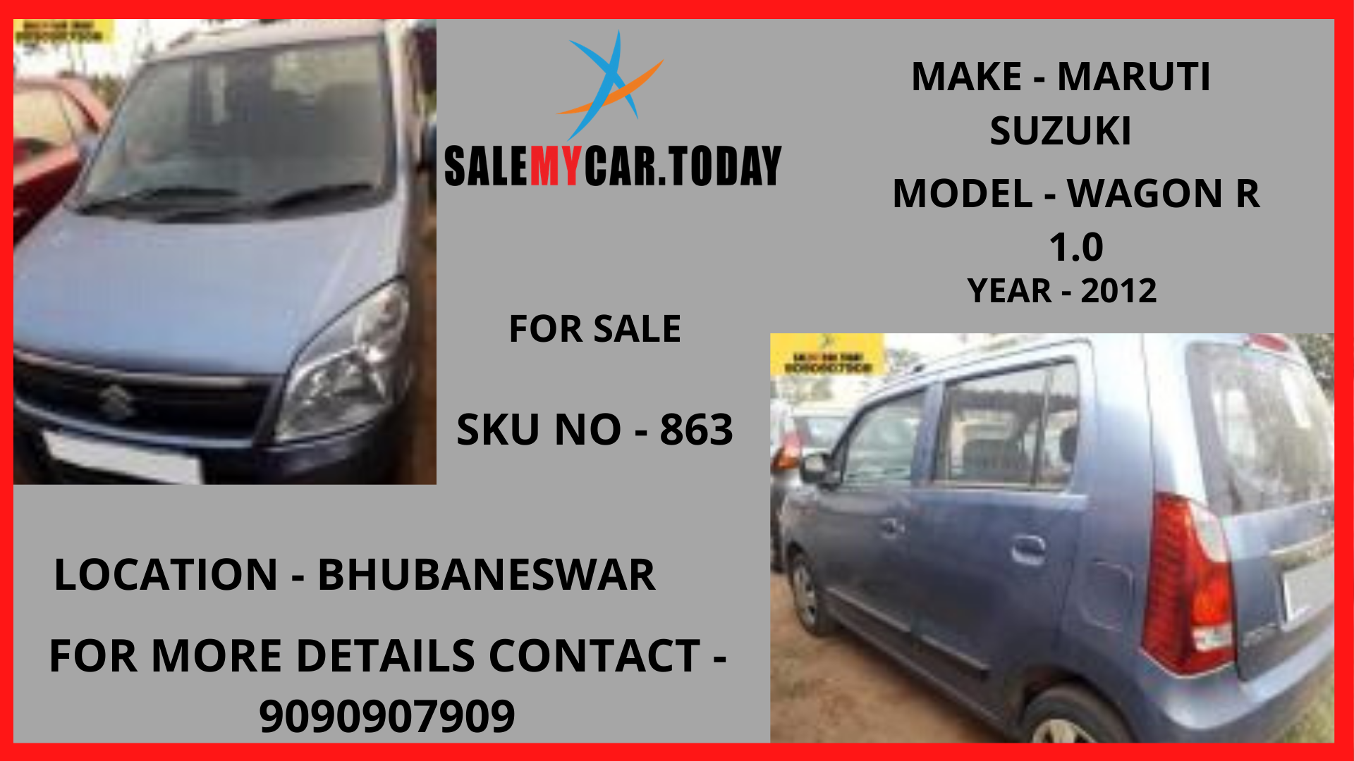 SECOND HAND MARUTI SUZUKI WAGON R 1.0 FOR SALE IN