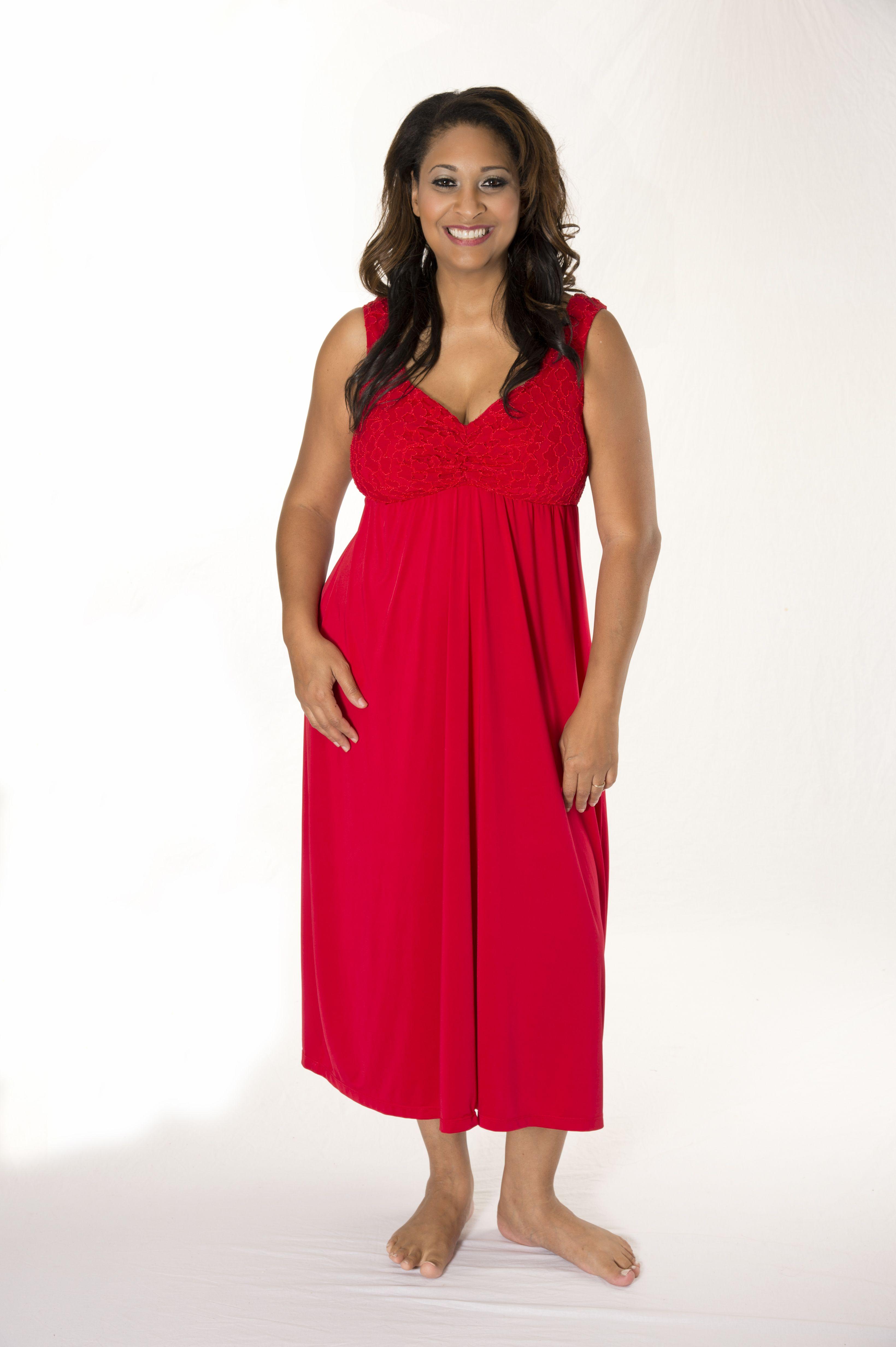 083b83fee9 Soulevant s Red Nightgown with built-in bra