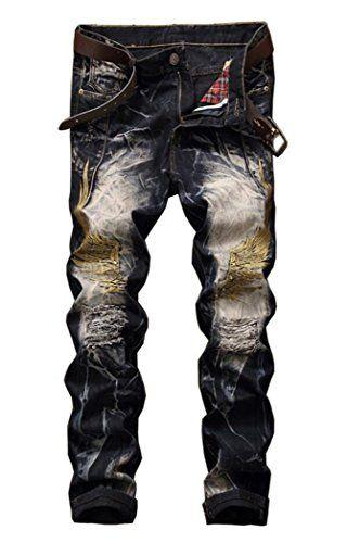 722d9d25870 Men's Fashion Ripped Slim Jeans 8732 42 | Jeans | Jeans, Slim jeans ...