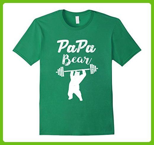 574868486 Mens Papa Bear T Shirt Funny Papa T-shirt New Dad Shirt Workout Medium  Kelly Green