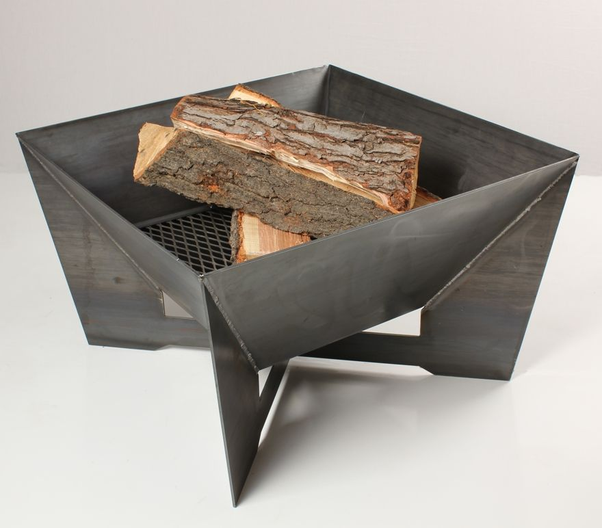 All cor ten steel fire pits are delivered in the for Fire pit project