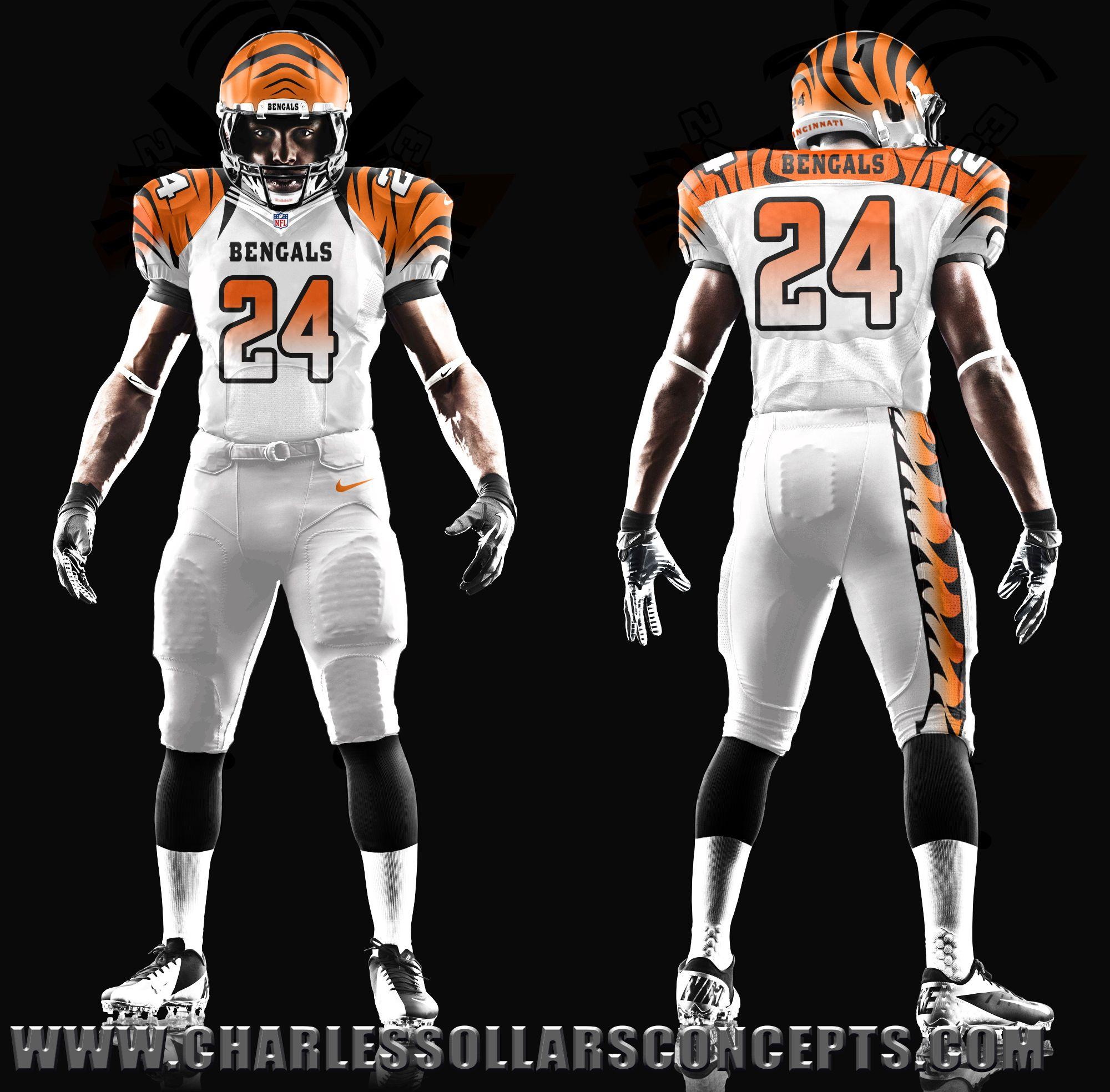 bengals white uni concept #MNF #NFL #Football #CINvsTB | Charles ...