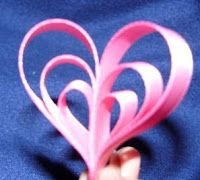 How To Make a Ribbon Heart!