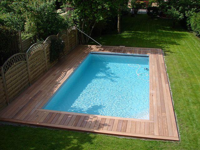 Terrasse en bois exotique Ipé autour de la piscine Terrasse en
