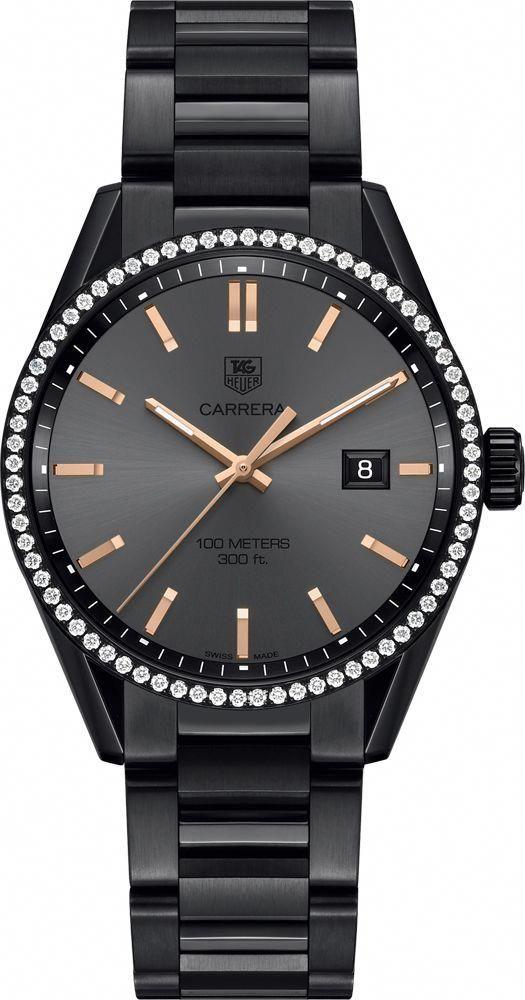 85965124c275 TAG Heuer Women s Carrera Cara Delevingne Special Edition Black  Titanium-Carbide Coated Steel Bracelet Watch 41mm WAR101A.BA0728
