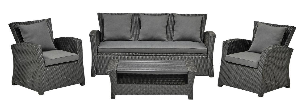 Loungeset KARLSHAMN alu petan met kussen JYSK #JYSK #Tuin - gartenmobel set alu 7 teilig