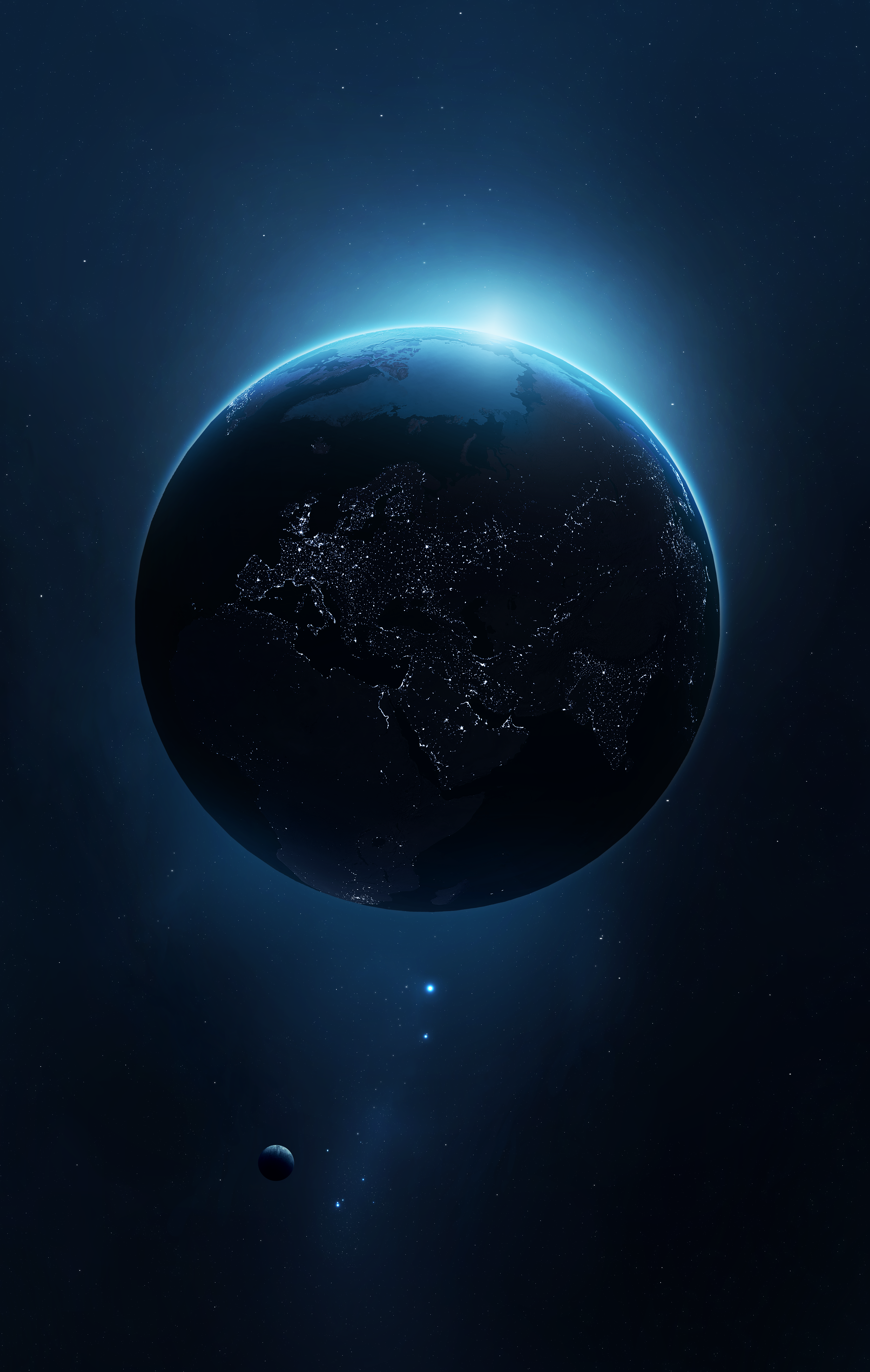 General 3490x5504 Space Universe Planet Earth Space Art Digital Art Wallpaper Earth Earth From Space Space Art