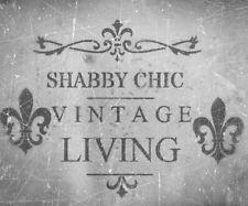 shabby chic vintage stencil schablone frankreich m bel. Black Bedroom Furniture Sets. Home Design Ideas