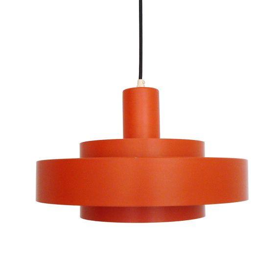EQUATOR pendant by Jo Hammerborg - 1969 - Fog & Mørup. Danish design lighting. Iconic orange design pendant in very good vintage condition.