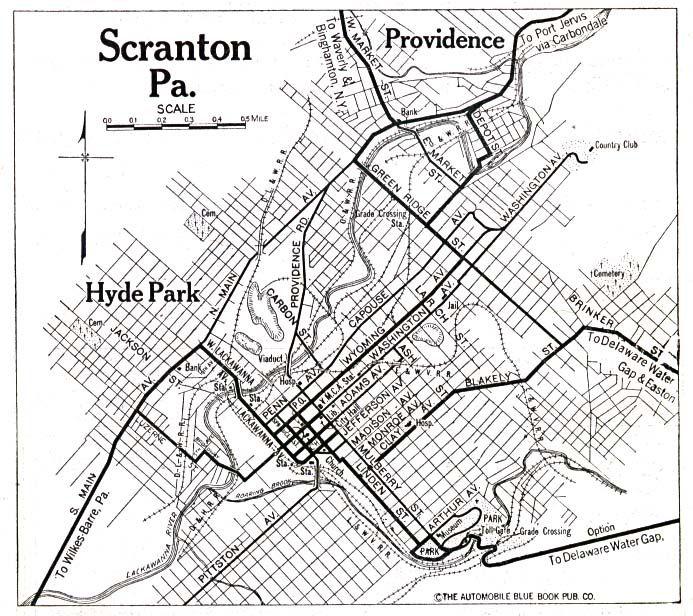 Old Scranton Map