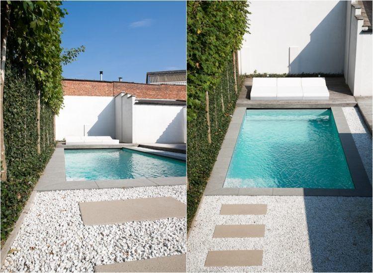 Gros Galets Pour Jardin. Gallery Of Des Graviers Blancs Dlimitent ...