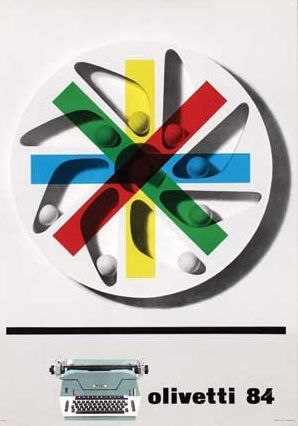 Olivetti 84 Poster, Designed by Giovanni Pintori, 1955