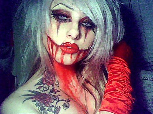Scary halloween face paint. Miss Victoria Murder | Crazy cool make ...