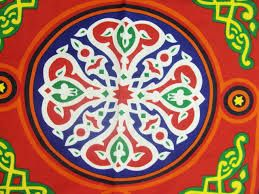 Egyptian Tent Fabric Designed In Different Patterns Colors Tent Fabric Ramadan Crafts Egyptian Applique
